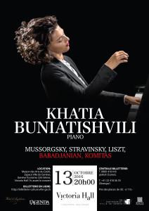 Concert de Khatia Buniatishvili @ Victoria Hall   Genève   Genève   Switzerland