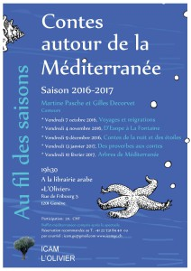 Contes de la nuit et des étoiles avec Gilles Decorvet et Martine Pasche @ Librairie arabe l'Olivier   Genève   Genève   Switzerland