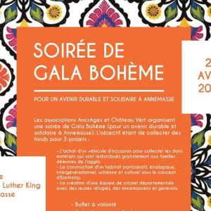 Soirée Diner de GALA BOHEME @ Complexe Martin Luther King | Annemasse | Auvergne-Rhône-Alpes | France