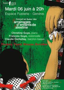 Concert en faveur des parrainages d'enfants de Palestine @ Espace Fusterie Geneve | Genève | Genève | Switzerland