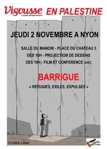 VIGOUSSE EN PALESTINE - Projection de dessins - Conférence @ Salle du Manoir | Nyon | Vaud | Switzerland
