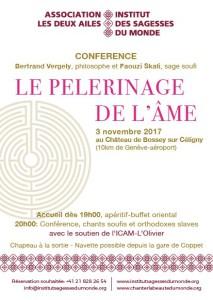 """LE PELERINAGE DE L'ÂME"" Conférence de Bertrand VERGELY, philosophe et Faouzi SKALI, sage soufi @ Chateau de Bossey | Bogis-Bossey | Vaud | Switzerland"