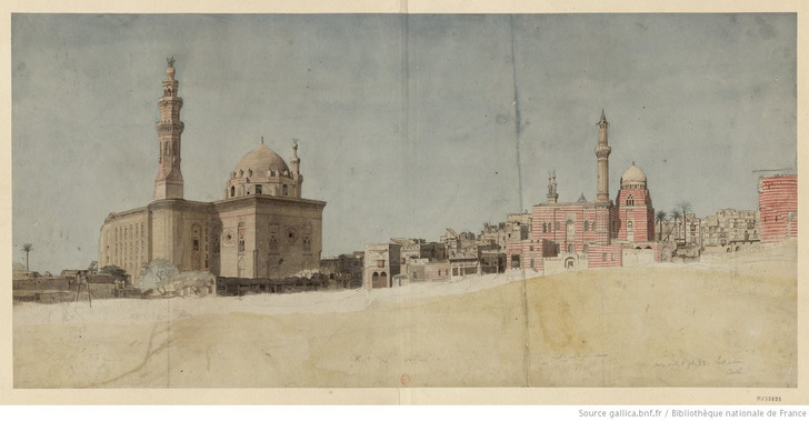 Caire-Mosquee-sultan-Hassan-Dessin-Nicolas-Jacques-Conte-1755-1805_0_728_379