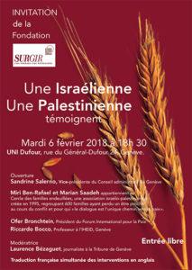 Une Israélienne, une Palestinienne témoignent - Fondation Surgir @ UNI-DUFOUR | Genève | Genève | Suisse