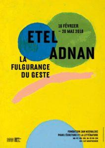 Exposition « Etel Adnan | La fulgurance du geste » @ Fondation Jan Michalski | Montricher | Vaud | Suisse