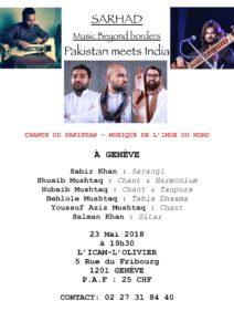 SARHAD Music Beyond borders Pakistan meets India @ ICAM - L'Olivier | Genève | Genève | Suisse