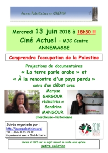Comprendre l'occupation de la Palestine @ Comprendre l'occupation de la Palestine | Annemasse | Auvergne-Rhône-Alpes | France