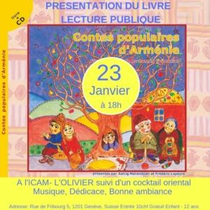 Contes populaires d'Arménie présentés par Astrid Marandjian @ ICAM-L'Olivier | Genève | Genève | Suisse