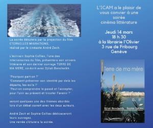 Présentation d'Éternelles migrations et de Terre de ma mère @ ICAM-L'Olivier | Genève | Genève | Switzerland