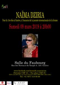 La grande Diva de la chanson Algérienne: Naima Dziria à Genève @ salle du Faubourg à Genève | Genève | Genève | Suisse