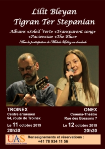 Lilit Bleyan et Tigran Ter Stepanian @ Onex et Troinex