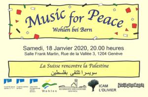 La Suisse rencontre la Palestine - Tournée de concerts @ Salle Franck Martin | Genève | Genève | Switzerland