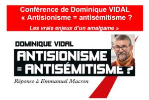 L'antisionisme, une forme d'antisémitisme? Conférence-débat avec Dominique Vidal @ Maison des associations, salle Gandhi, Genève | Genève | Genève | Switzerland