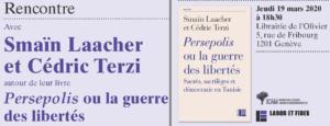 PERSEPOLIS OU LA GUERRE DES LIBERTÉS- REPOUSSÉ A UNE DATE ULTÉRIEURE @ ICAM-L'Olivier | Genève | Genève | Switzerland