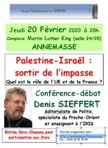 Palestine-Israël : sortir de l'impasse @ ANNEMASSE (France) | Annemasse | Auvergne-Rhône-Alpes | France