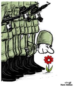 La journalisteLuisa Ballinconverse avecRoberta Venturaet le dessinateur palestinienHani Abbas. @ ICAM-L'Olivier - En ligne sur Facebook et Icamge.ch | Chicago | Illinois | United States